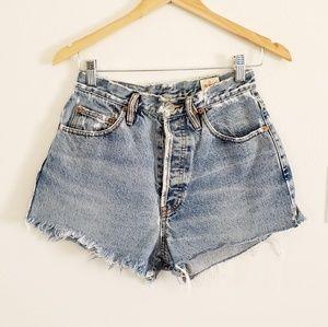 Vintage Et Vous Cutoff Blue Jean Shorts